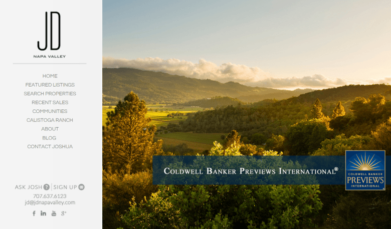 IDX Broker Platinum Napa Valley Example